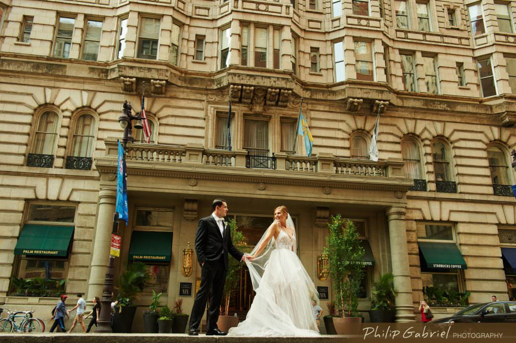 Wedding Photos on Broad Street Philadelphia
