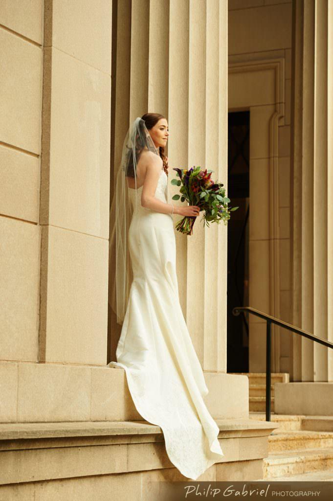 Wedding photos at the Rodin Museum Philadelphia
