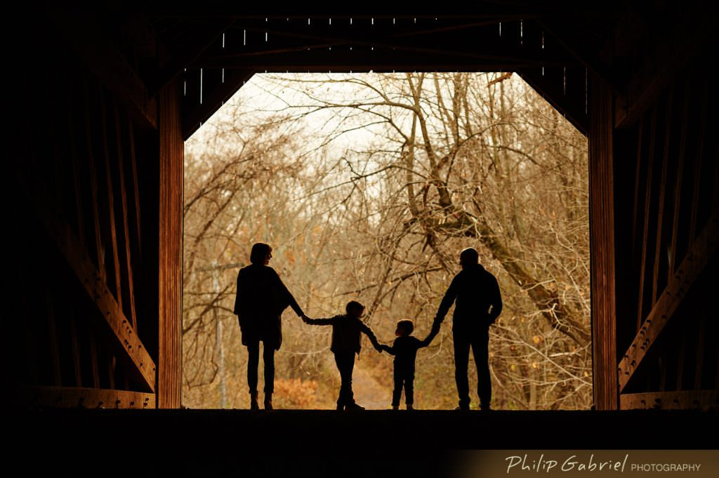 Family session in Tyler State Park Pennsylvania